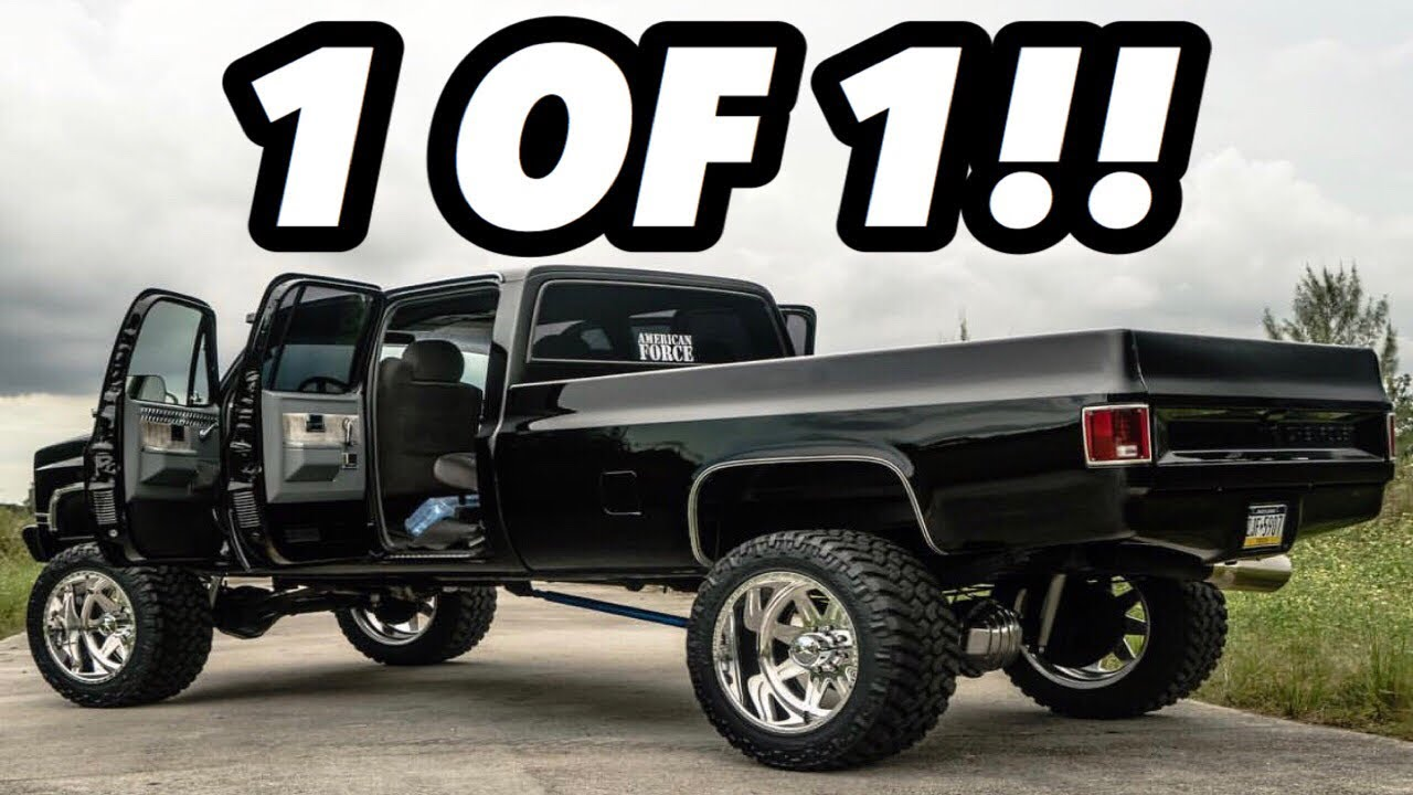 CLASSIC Style with MODERN Grunt! *LBZ Swapped Crew Cab Square Body ...