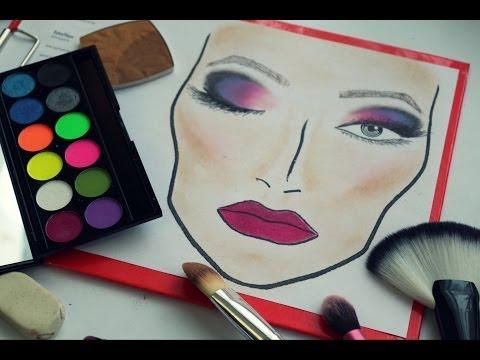 Видео Фейс чарты для макияжа пустые распечатать
