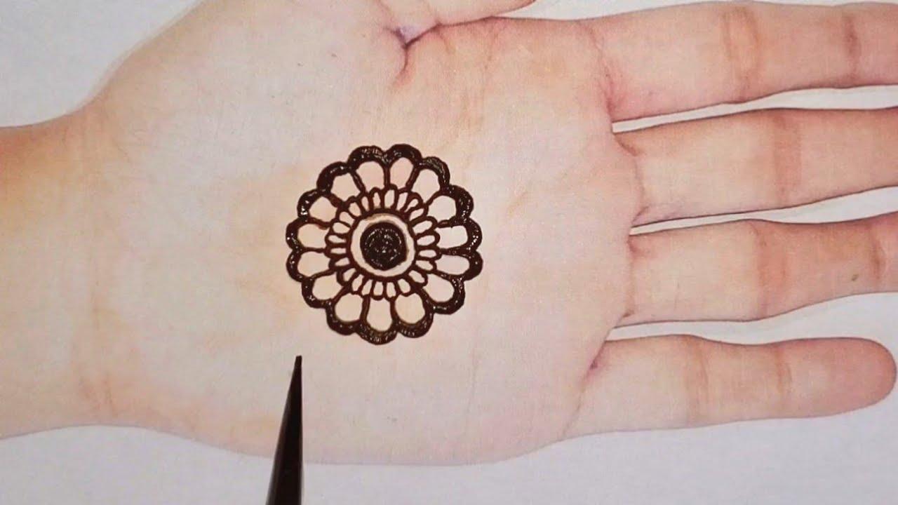 simple flower henna design