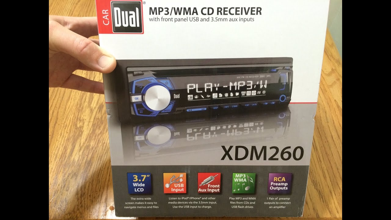 maxresdefault dual xdm260 mp3 wma cd receiver first impressions & unboxing