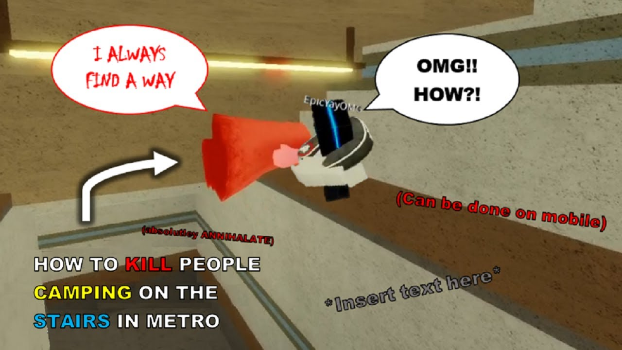 How to KILL campers GLITCHING ON THE STAIRS in Chapter 7 - Metro [Roblox Piggy Glitches]
