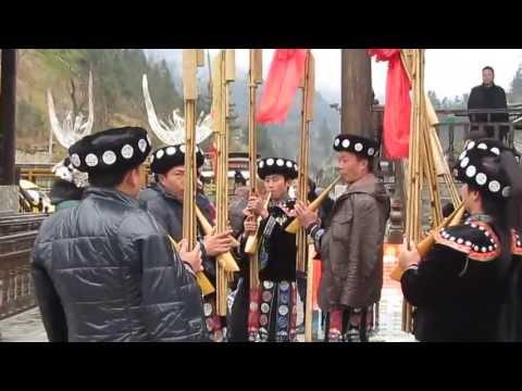 Miao tribe musicians
