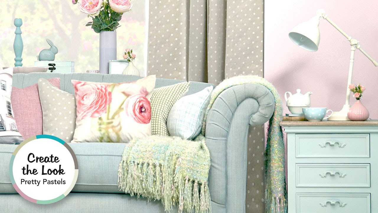 Delicieux Pretty Pastels Living Room