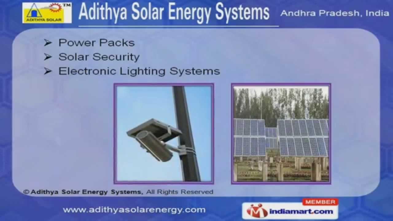 Solar Street Lighting LED by Adithya Solar Energy Systems, Hyderabad ...