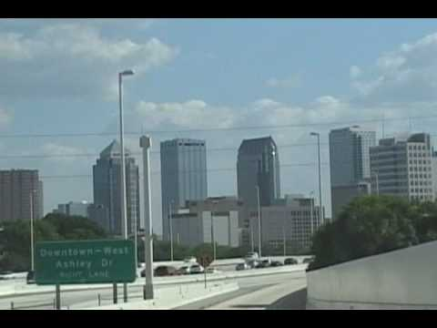Driving into Tampa Florida from Orlando