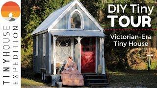 Retiree's Victorian Tiny House, 19th Century Living W/ Modern Twist