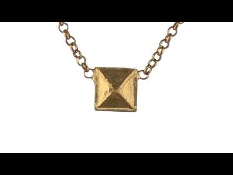 Dogeared Stay True Stay You Square Necklace SKU:8533036