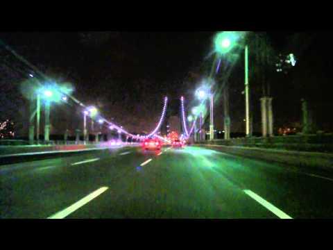 SNOWY NIGHT MOSHOLU BRONX NEW YORK CITY GEORGE WASHINGTON BRIDGE.mp4