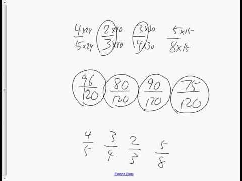 Grade 7 Practice Test for Fractions December 7th 2017