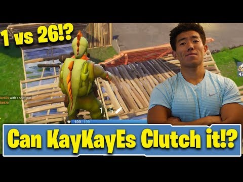 1 VS 26!? CAN KAY CLUTCH IT!? KAYKAYES PLAYS FORTNITE BATTLE ROYALE