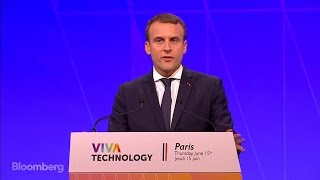 Macron Says He Wants France to Be a \'Startup Nation\'