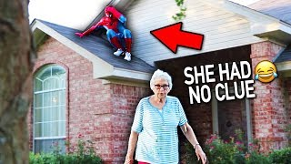 Download SPIDERMAN DING DONG DITCH PRANK!! (this didn't end well) Mp3 and Videos