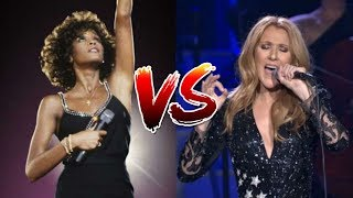 Celine Dion Vs. Whitney Houston (Record Sales, Number Ones, Live Vocals, Tours)