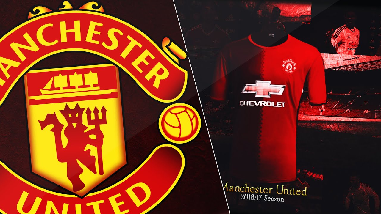Manchester united home kit 201617 wallpaper design youtube voltagebd Choice Image