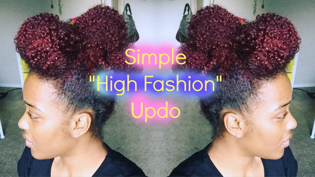 Natural Hair | Simple Updo - YouTube