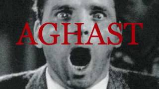Aghast - Struck with Terror and Amazement.  Brainy Flix SAT Vocabulary Word
