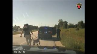 Car crash during traffic stop in Sheboygan County