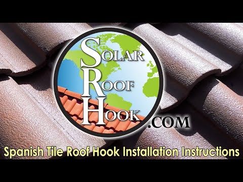 How to Install the Roof Hooks for Spanish Tile Roofs