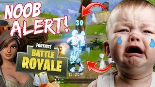 NOOB PLAYS FORTNITE FOR THE FIRST TIME AND GETS WRECKED! (LOL)