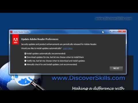 Adobe Reader Update - A Good Idea!