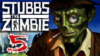 Stubbs the Zombie (Part 5) in Rebel Without a Pulse Xbox 360 Gameplay