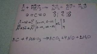 расставляем коэффициенты  реакции методом электронного баланса. видео 1