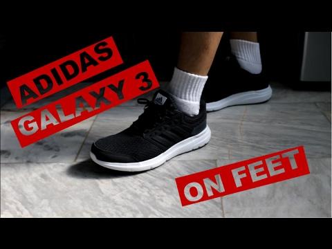 big sale e1f1c 7fdf1 Adidas Galaxy 3 on feet