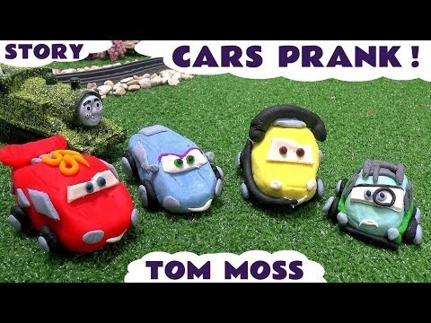 Disney Pixar Cars Prank Thomas and Friends Play Doh Funny Minions Tom Moss Peppa Pig Spider-Man