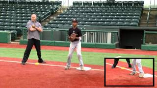 ripken baseball fielding tip receiving the throw from first base