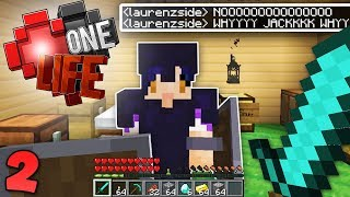 Lauren is MAD at me ALREADY 😞 Minecraft One Life SMP EP2