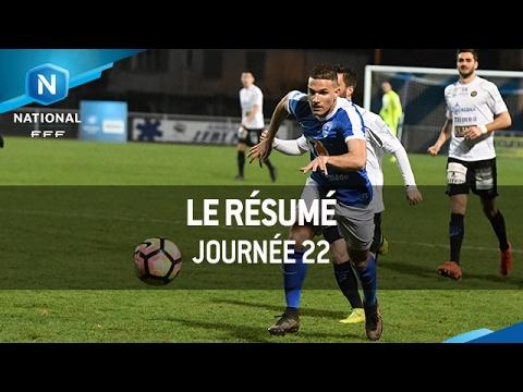 Championnat National : tous les buts de la 22e journée (2016-2017)