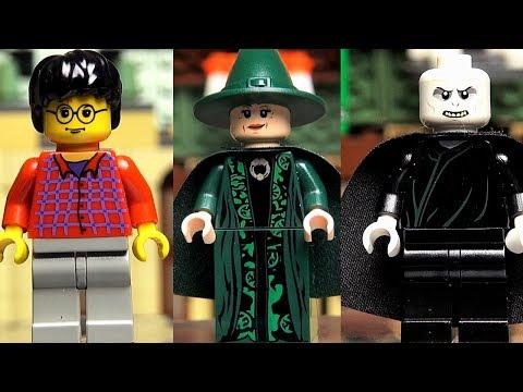 Гарри Поттер LEGO минифигурки все из Замок Хогвартс Обзор