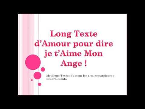 Texte Pour Dire Je Taime Youtube