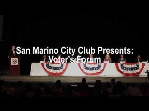 San Marino City Club Voter's Forum 2017