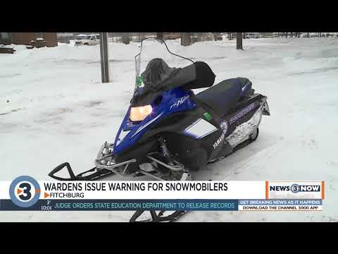Wisconsin DNR wardens warn snowmobilers after 3 crashes in one night