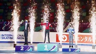 Церемония награждения Юноши Красноярск Гран при по фигурному катанию среди юниоров 2021 22