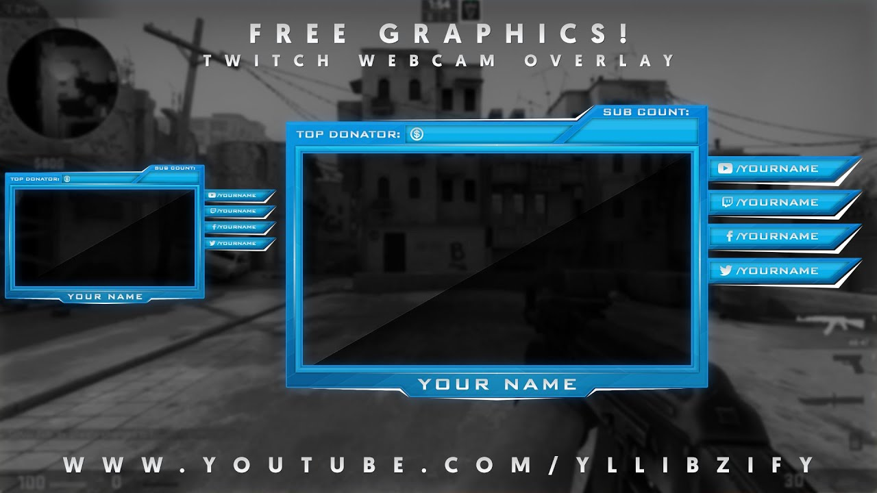 Free Graphics: Photoshop Twitch video overlay: \