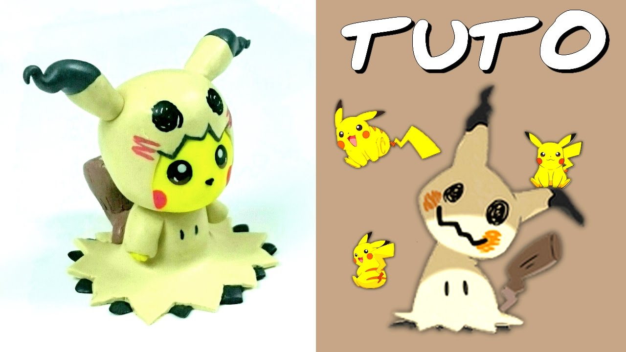 tuto fimo pikachu cosplay en mimiqui de pok mon youtube. Black Bedroom Furniture Sets. Home Design Ideas