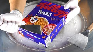 ASMR - Kellogg's Frosties Ice Cream Rolls | satisfying fried Ice Cream with tapping & eating Sounds