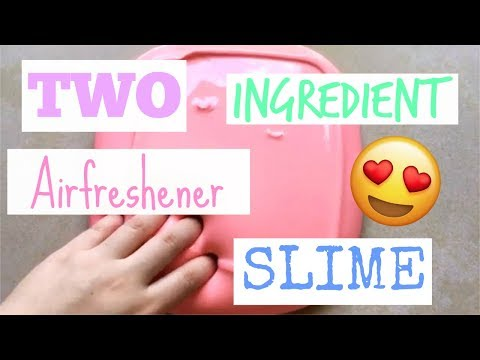 Trying out Air Freshener Slime! TWO INGREDIENTS! No Borax, No Contact Solution, No Liquid Starch!
