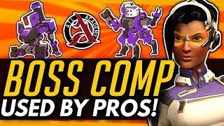 Overwatch | The BOSS Comp Used By PROS! - Bastion Orisa Symmetra Crazy Anti-GOATS Strat