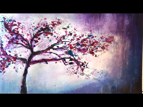 "Abstrakte Acrylmalerei Demo ""Zauberbaum"" – Abstract Acrylic Painting Demo ""Magic Tree"""