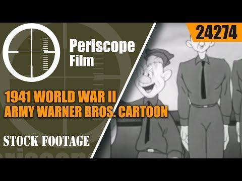 """1941 WORLD WAR II ARMY WARNER BROS. CARTOON """"ROOKIE REVUE"""" 24274"""