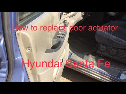 How To Replace Door Actuator On Hyundai Santa Fe Youtube