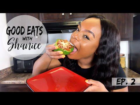 Good Eats With Shanice | Stuffed Bell Peppers | ShaniceAlisha .