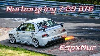 Nürburgring Nordschleife BTG TF7:29 Mitsubishi Evolution 9 Rs Cristian Vidal