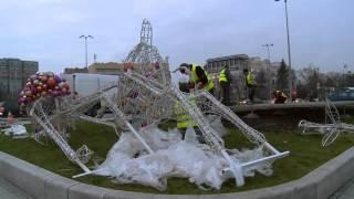 Świąteczna iluminacja Warszawy -  przygotowania