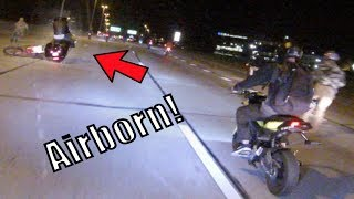 Grom Ventures Ep. 25 - Harley Jumps Over Dirt Bike! | Multiple Crashes! | Spotted By Police!