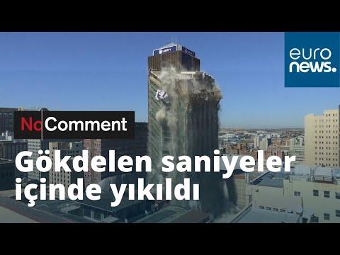 108 metre yüksekliğindeki bina saniyeler içinde yerle bir oldu