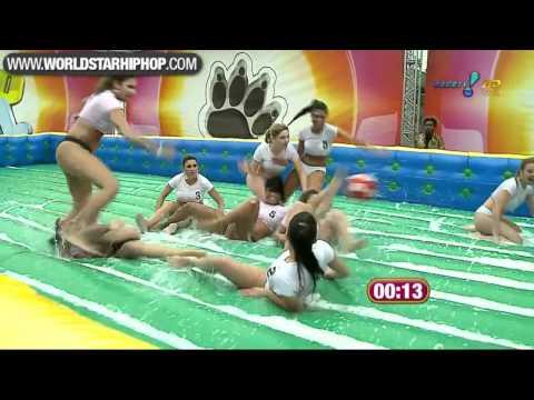 Sexy Brazilian Girls Playing Football